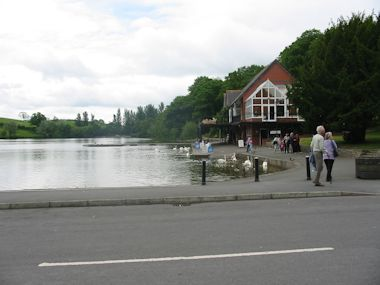 The lake Llandrindod Wells